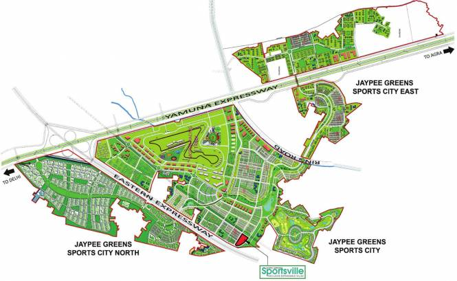 Jaypee Sportsville Location Plan