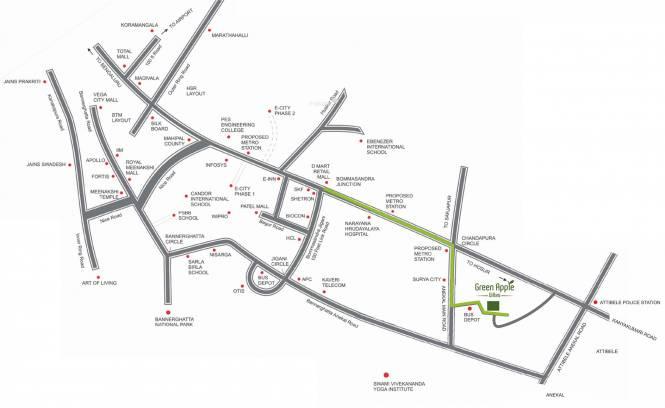 Global Green Apple Villas Location Plan