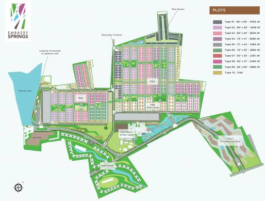 Embassy Springs Plots Master Plan