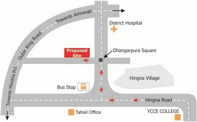Vidarbha Hingna City Location Plan