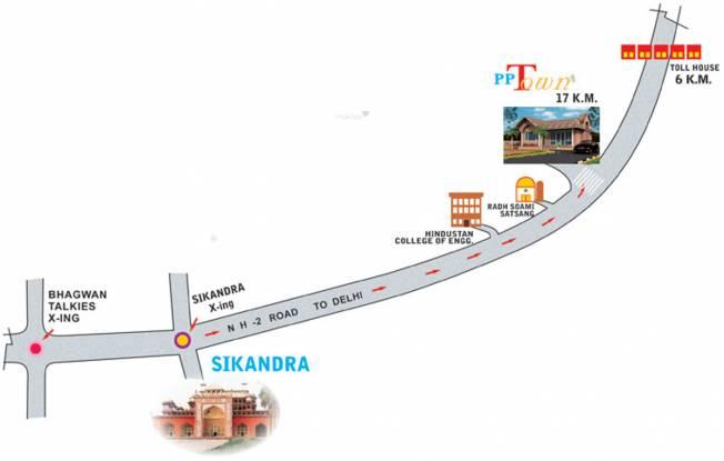Pushpanjali PP Town Plots Location Plan