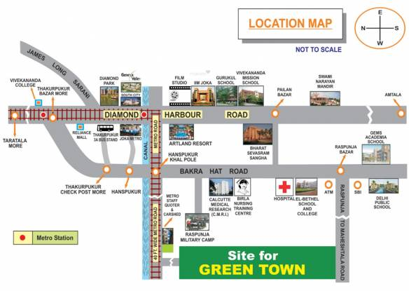 Naskar Green Town Location Plan