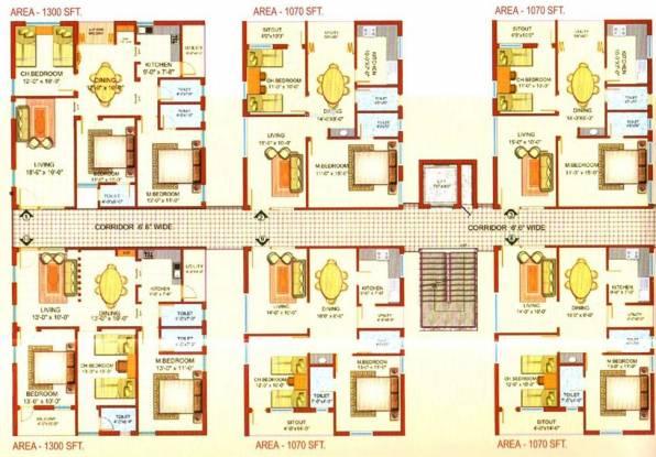 Lakshmi Arcade Spoorthy Cluster Plan
