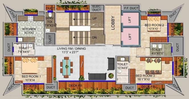 Mittal Gardenia Cluster Plan