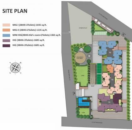 Panchsheel Pebbles Site Plan