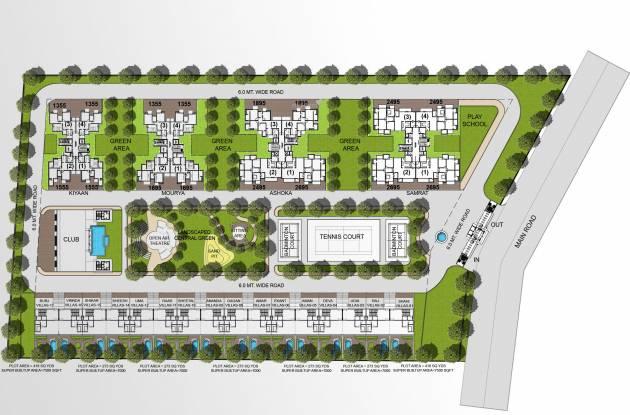 Sikka Kimaantra Greens Apartment Layout Plan