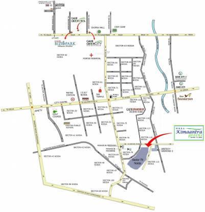 Sikka Kimaantra Greens Apartment Location Plan