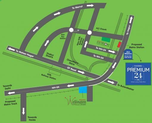 Panchsheel Premium 24 Location Plan