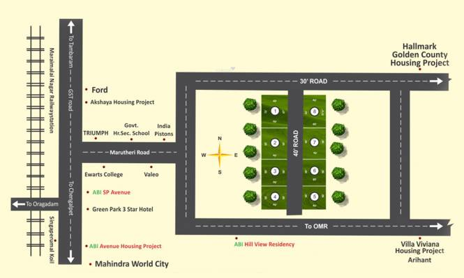 ABI Mullai Nagar Layout Plan
