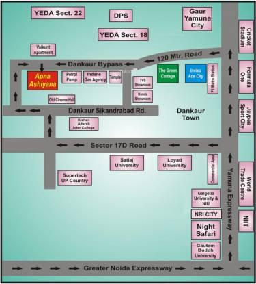 Invixo Invixo Ace City Location Plan