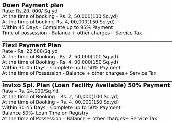 Invixo The Green Cottage Payment Plan