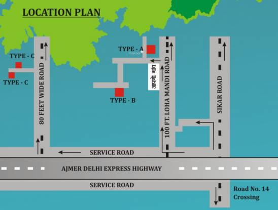 Unnati Villas Location Plan