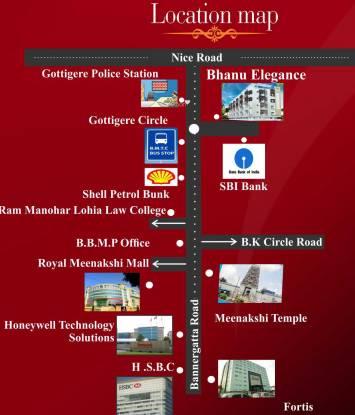 Bhanu Elegance Location Plan