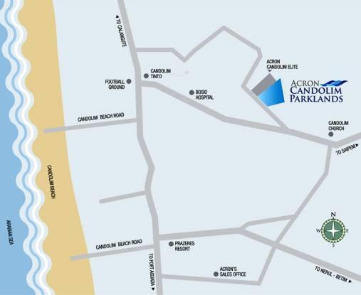Acron Candolim Parklands Location Plan