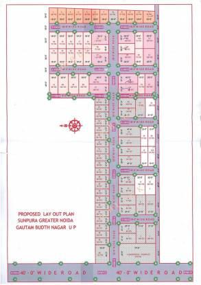 SS Shri Krishna Enclave Layout Plan