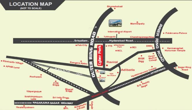 Prathista Cyber Park Location Plan