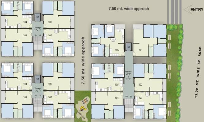 Shreedhar Madhuvan Residency Layout Plan