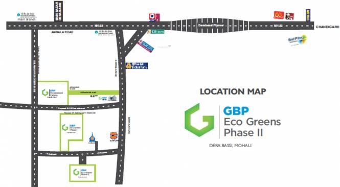 GBP Eco Greens Floors Location Plan