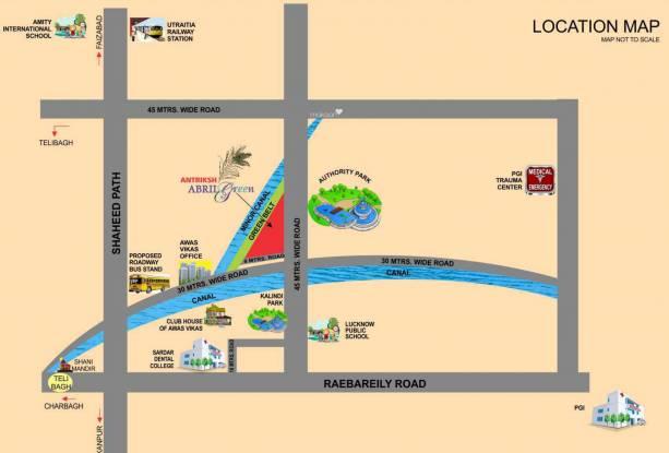 Antriksh Abril Green Location Plan