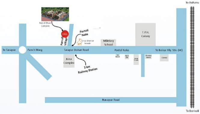 HGL Nand Dham Complex Location Plan