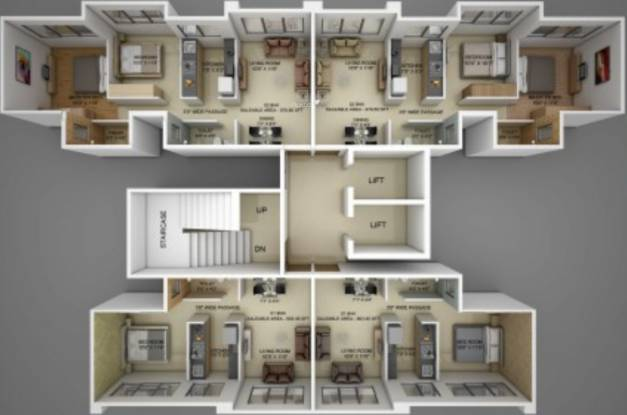 Flintstone Flint Heights Cluster Plan