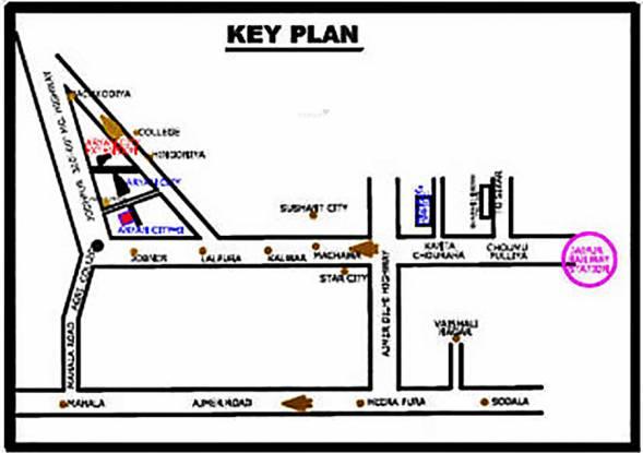 KK Dreamz Colonizers Pvt Ltd Aryan City II Location Plan
