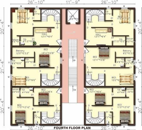 Rajeswari Sunshine Suites Cluster Plan
