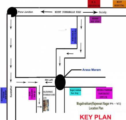 Rajeswari Row House Location Plan