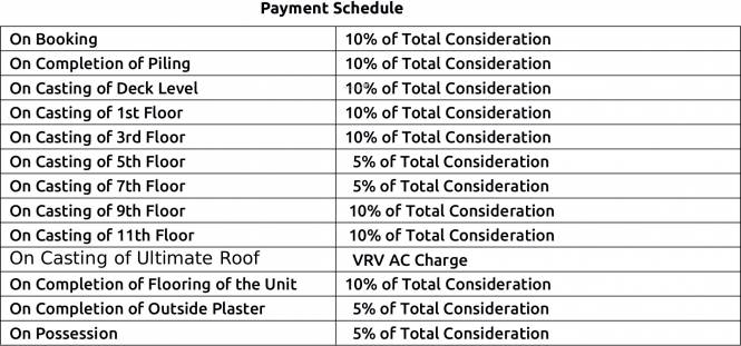 PS Vyom Payment Plan