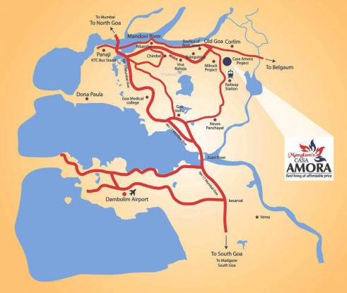 Manglam Casa Amora Location Plan