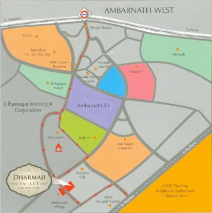 JP Dharmaji Palace Location Plan