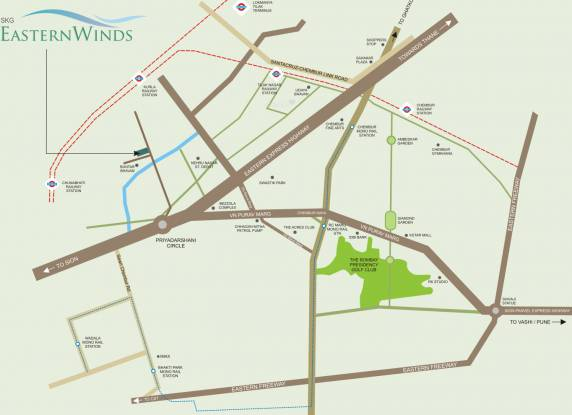 Shree Krishna Eastern Winds Location Plan