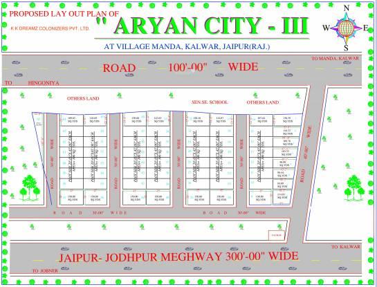 KK Dreamz Colonizers Pvt Ltd Aryan City III Layout Plan