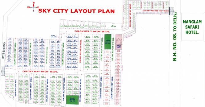 Sky City Layout Plan