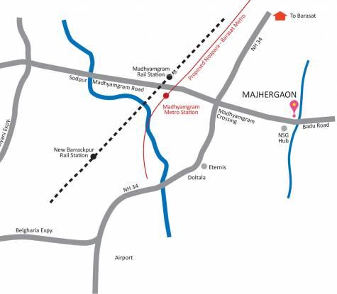 PS Majhergaon Location Plan