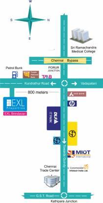 EXL Brindavan Location Plan