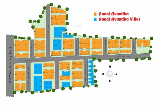 Annai Avantika Villas Layout Plan