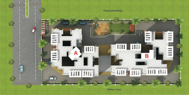 GK Jhulelal Towers Layout Plan