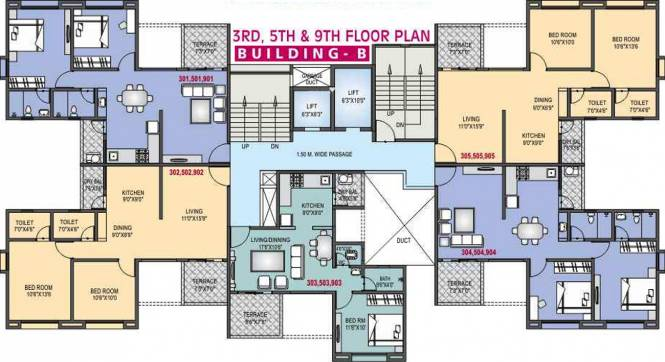 RR Riddhi Siddhi Heights Cluster Plan