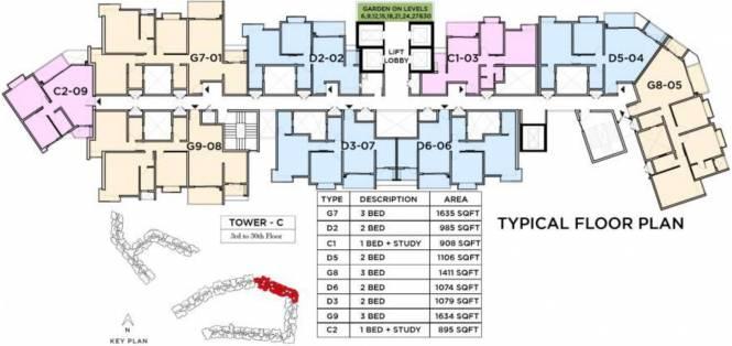 Bhartiya Nikoo Homes 2 Cluster Plan