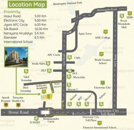 Shabari SS South Crest Location Plan