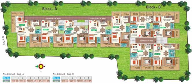 Sree Mahaveer Srinivasa Sunridge Cluster Plan