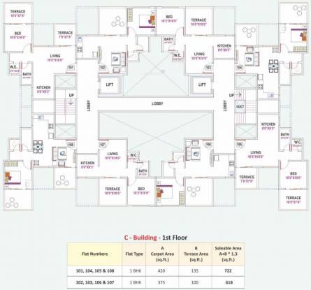 Prime Utsav Home Cluster Plan