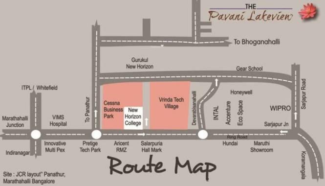 Pavani Lake View Location Plan