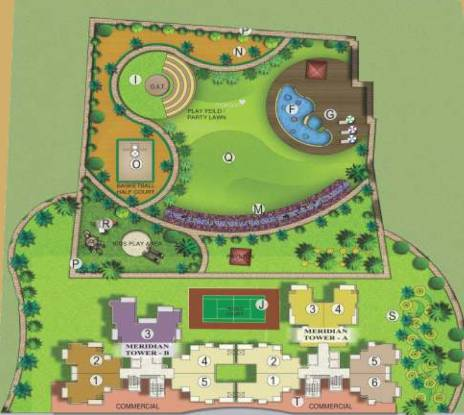 VVIP Meridian Tower Layout Plan
