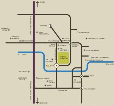Kolte Patil 24K Atria Location Plan