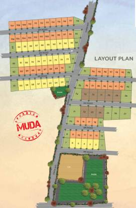Hegde Silver Springs Villas Layout Plan
