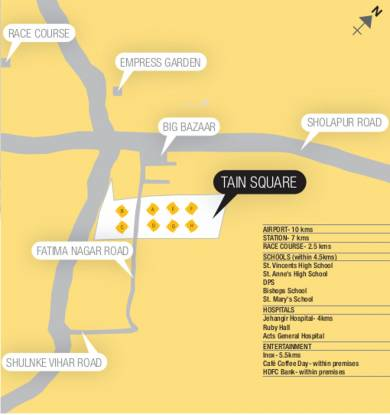 Tain Square Location Plan