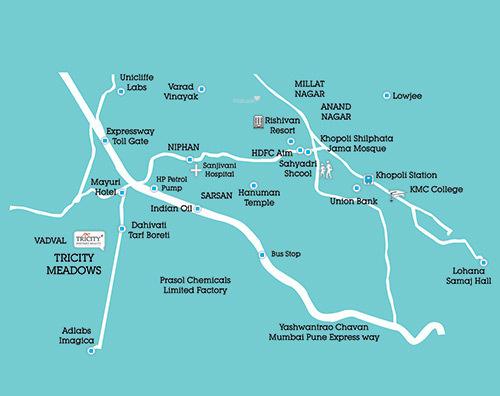 Tricity Meadows Location Plan