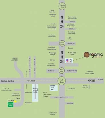 Rise Organic Homes Location Plan